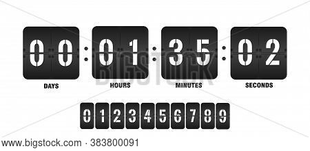 Countdown Clock. Counter Timer Clocks Counts Day Digital Down Watch Numeric Minute Coming Score Hour