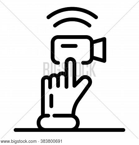 Push Video Call Icon. Outline Push Video Call Vector Icon For Web Design Isolated On White Backgroun