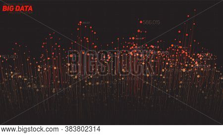 Vector Abstract 3d Big Data Visualization. Futuristic Infographics Aesthetic Design. Visual Informat