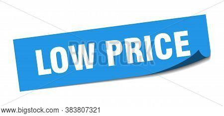 Low Price Sticker. Low Price Square Sign. Peeler