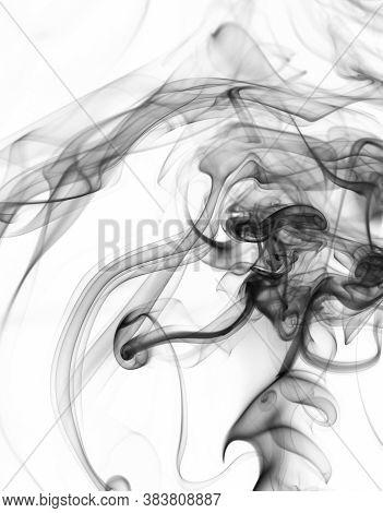 Abstract Black Smoke Swirl Background