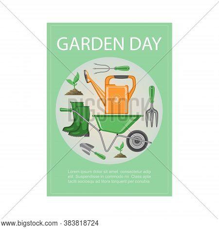 Garden Day, Poster, Agriculture, Gardening Banner, Summer Work On Environment, Environment, Design C