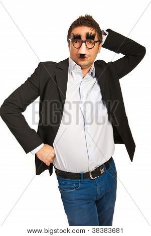 Funny Business Man With Mask