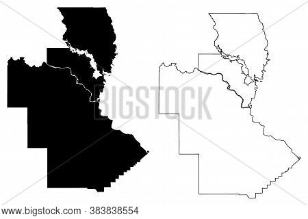 Natchitoches County, Louisiana (u.s. County, United States Of America, Usa, U.s., Us) Map Vector Ill