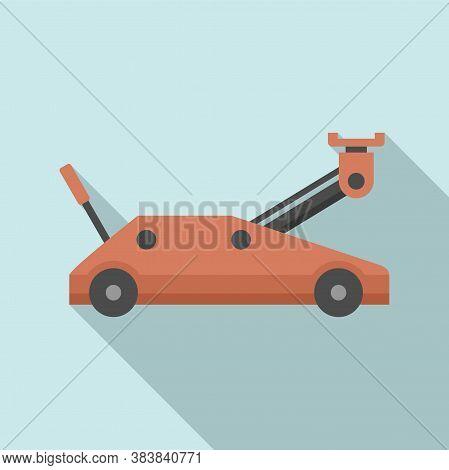 Wheels Jack-screw Icon. Flat Illustration Of Wheels Jack-screw Vector Icon For Web Design