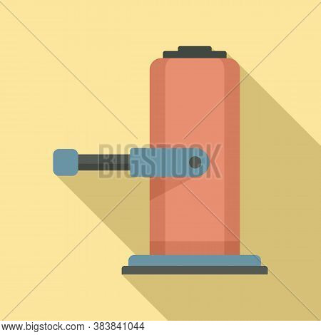 Lifter Jack-screw Icon. Flat Illustration Of Lifter Jack-screw Vector Icon For Web Design
