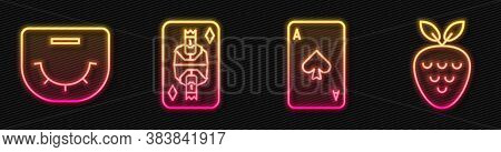 Set Line Playing Card With Spades, Poker Table, King Playing Card With Diamonds And Casino Slot Mach