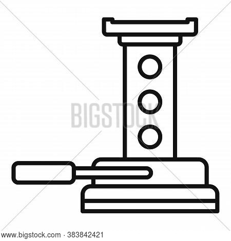 Maintenance Jack-screw Icon. Outline Maintenance Jack-screw Vector Icon For Web Design Isolated On W