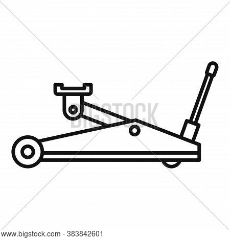 Hydraulic Jack-screw Icon. Outline Hydraulic Jack-screw Vector Icon For Web Design Isolated On White