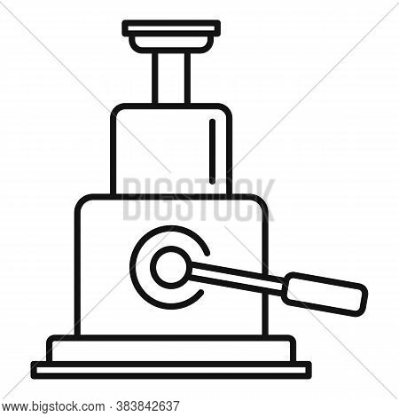 Hydraulic Car Jack-screw Icon. Outline Hydraulic Car Jack-screw Vector Icon For Web Design Isolated