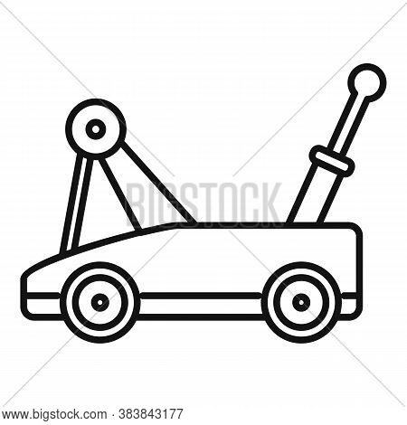 Warehouse Jack-screw Icon. Outline Warehouse Jack-screw Vector Icon For Web Design Isolated On White