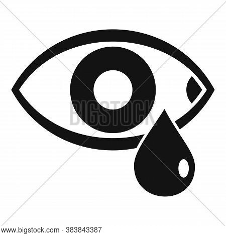 Stress Crying Eye Icon. Simple Illustration Of Stress Crying Eye Vector Icon For Web Design Isolated