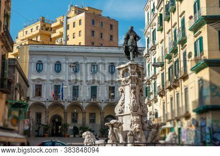 Fountain of Monteoliveto in Naples, Italy