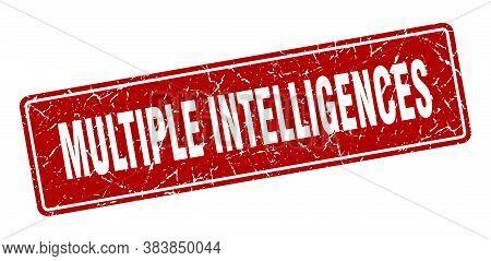Multiple Intelligences Stamp. Multiple Intelligences Vintage Red Label. Sign