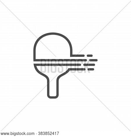 Table Tennis Logo Design Concepts. Sport Labels Vector Illustration For Ping Pong Club