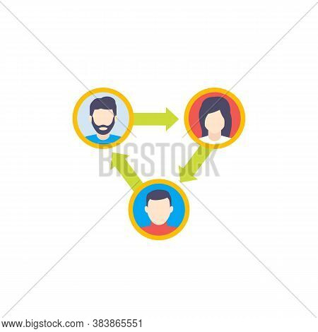 People Interacting Or Team Interaction Icon, Eps 10 File, Easy To Edit