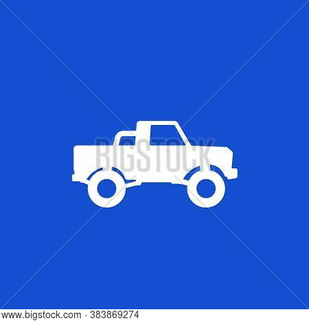 Pickup Truck, 4x4 Car Vector Icon, Eps 10 File, Easy To Edit