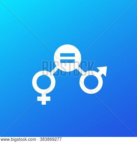 Gender Equity Icon, Vector Design, Eps 10 File, Easy To Edit