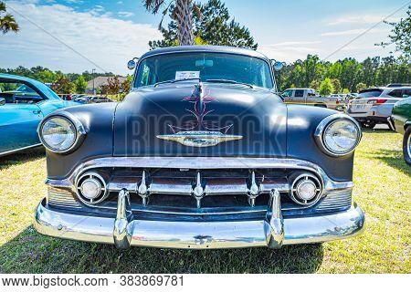 Savannah, Ga / Usa - April 21, 2018: 1953 Chevrolet 210 Coupe At A Car Show In Savannah, Georgia.