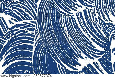 Grunge Texture. Distress Indigo Rough Trace. Exceptional Background. Noise Dirty Grunge Texture. Pos