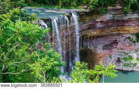 Majestic Beautiful Gorgeous Inviting View Of Ball Falls At Niagara Escarpment Green Belt, Ontario, C
