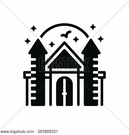 Black Solid Icon For Fantasy Flanker Imagination Castle Spec Imagery Chimera Dream Daydream Fort