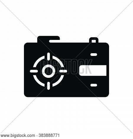 Black Solid Icon For Capture Catch Take Camera Aperture Digital Photo Photography Picture Snapshot F