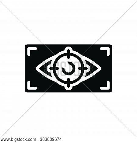 Black Solid Icon For Viewer Observer Onlooker Spectator Watcher Eyewitness Looker-on Eye