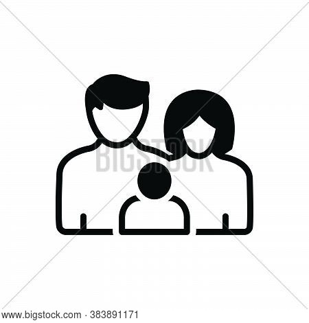 Black Solid Icon For Family-with-baby Love Member Insurance Family Tribe People Ancestry Heritage Ge
