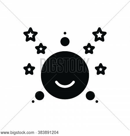 Black Solid Icon For Moon-stars Moon Stars Crescent Night Celestial Satellite Galaxy Heaven Cosmos N