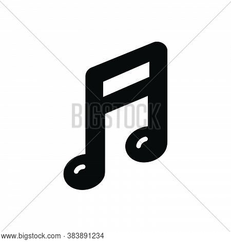 Black Solid Icon For Music-note Music Note Sound Classical Clef Melody Tune Notation Symphony Musica
