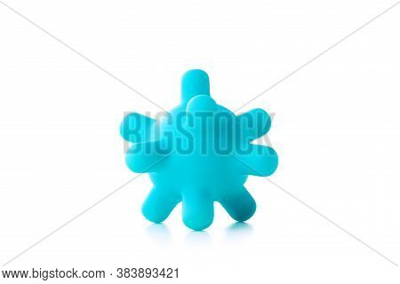 Baby Toy Teether On A White Background.