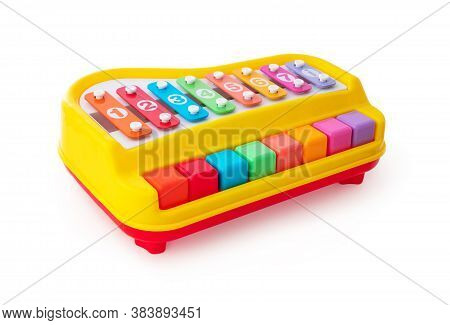 Baby Piano Toy Isolated On White Background