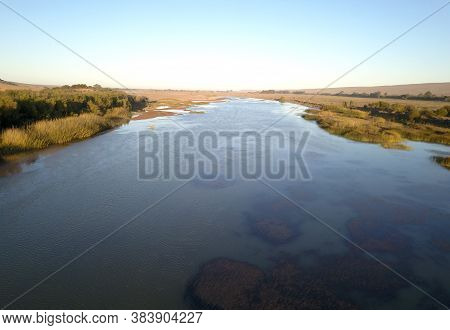 Aerial Over The Orange River, Between South Africa And Namibia