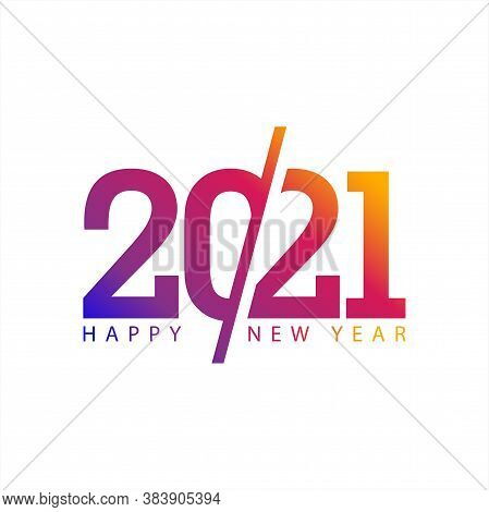 New Year 2021. Number 2021 In Modern Concept. 2021 Text. Year 2021 Design Vector In White Background