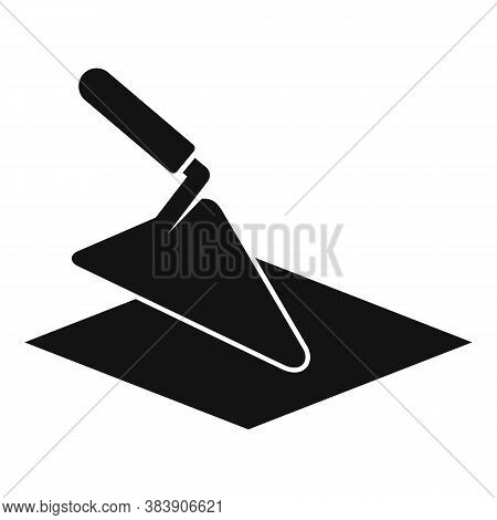 Tiler Trowel Icon. Simple Illustration Of Tiler Trowel Vector Icon For Web Design Isolated On White