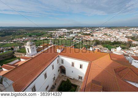 Estremoz, Portugal - March 2, 2019: View Of Estremoz City From Castle In Alentejo, Portugal