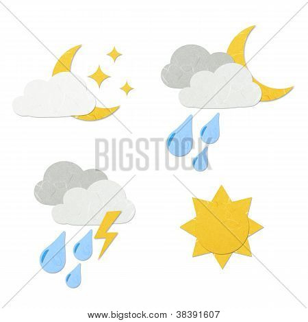 Rice Paper Cut Cute Weather Icon