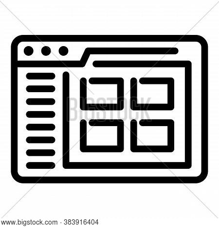 Internet Browser Icon. Outline Internet Browser Vector Icon For Web Design Isolated On White Backgro