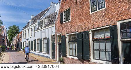 Loenen Aan De Vecht, Netherlands - May 21, 2020: Panorama Of A Street With Old Houses In Loenen, Net