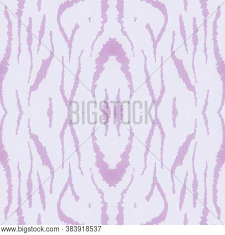 Pastel Africa Print. Watercolour Safari Skin Texture. Pink Fashion Tiger Background. Zoo Lines Fabri