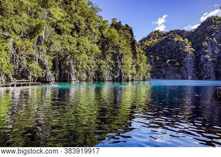 Kayangan Lake Is One Of The Seven Enchanting Lakes Of Coron Island, Considered Sacred By The Tagbanu