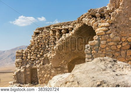View Of Hasankeyf Stone Houses And Ruines In View Of Hasankeyf Stone Houses And Ruines, Turkey, East