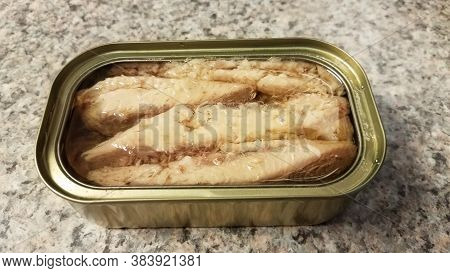 Can Of Sardines In Oil On Counter