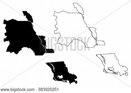St. Martin County, Louisiana (u.s. County, United States Of America, Usa, U.s., Us) Map Vector Illus