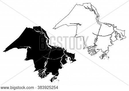 St. Mary County, Louisiana (u.s. County, United States Of America, Usa, U.s., Us) Map Vector Illustr