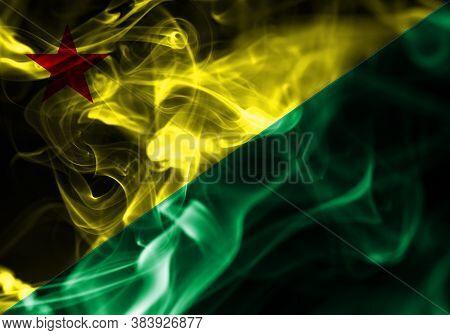 Acre Smoke Flag, State Of Brazil National Flag Of Smoke
