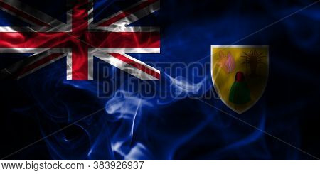 Turks And Caicos Islands Smoke Flag, British Overseas Territories, Britain Dependent Territory Flag
