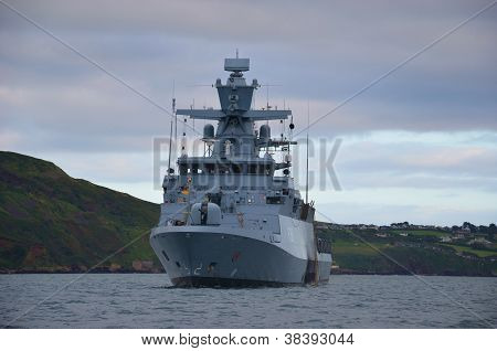 German Frigate at anchor
