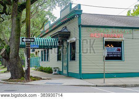 New Orleans, Louisiana/usa - 7/25/2020: Pascal's Manale Restaurant On Napoleon Avenue
